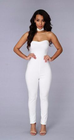 a7d8ce6eb4 Sexy Women Jumpsuit Summer Off Shoulder Strapless Fashion T Shaped Backless Bodysuit  Rompers Elegant Long Overalls