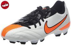 Nike Jr T90 Shoot Iv Fg Jungen Sportschuhe - Fußball, weiß - schwarz - orange, 37 1/2 - Nike schuhe (*Partner-Link)