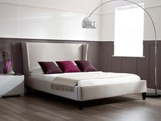 Zach Bed - Despite the large feature headboard the bed itself is still ideal for rooms where space is not limitless as the bed frame remains tight to the mattress - Home Decor ideas by Living It Up
