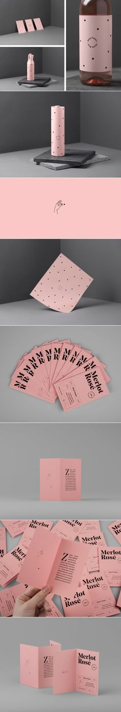 Dúzsi Tamás Merlot Rosé — The Dieline - Branding & Packaging Design