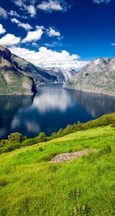 View to Aurlandsfjord a branch of Sognefjord from Stegastein viewpoint, Norway | The most beautiful European Destinations in Spring http://www.beautifulvacationspots.com/