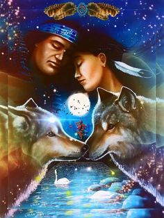 Native American Images, Native American Artwork, American Indian Art, American Pride, Native American Indians, Good Day Images, Wolf Spirit, Winter Scenery, Anime Wolf