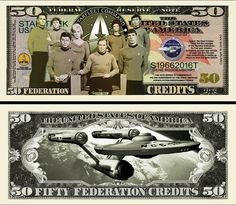 ProductTitle(title=Limited Edition Star Trek Fifty Year Anniversary Collectible Bill in Currency Holder) Star Trek Memorabilia, Star Trek 50th Anniversary, Star Trek Collectibles, Star Trek Beyond, Coin Values, Old Money, Star Track, Charlie Chaplin, Classic Movies