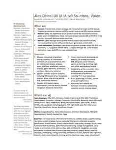 8 best ux designer resume images on pinterest resume ux designer