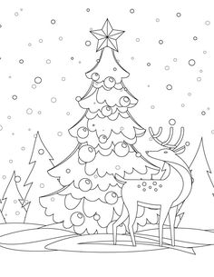 Drawing winter christmas tree coloring page to print Cat Coloring Page, Coloring Pages To Print, Colouring Pages, Coloring Pages For Kids, Coloring Books, Christmas Colors, Christmas Art, Winter Christmas, Christmas Templates
