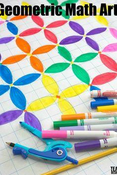 Geometric Math Art With Circles