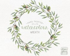 Watercolor wreath: painted floral wreath clipart / Wedding invitation clip art / Peach and pink flor