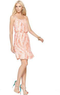 Calvin Klein Jeans Sleeveless Scoop Neck Printed in Pink (animal)