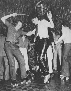 vintage roller skating photos | paul waller roller disco champion space is the place roller disco ...