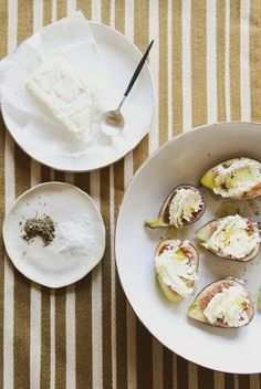 Recipes and cooking blog : Trotski & Ash » Recipe » ripe purple figs with goats cheese