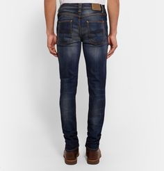 Well-made jeans are a mainstay in any casual roster, and Nudie Jeans' 'Lean Dean' pair will make a handsome addition to your lineup. Expertly whiskered and faded for a subtly worn-in look, they're crafted from organic denim that's been washed for a soft feel and woven with a touch of stretch for the most comfortable fit. Wear them with the cuffs rolled to further the laid-back vibe.