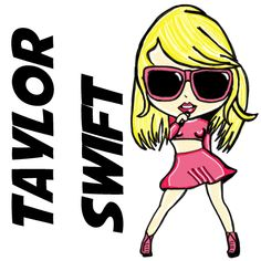 How to Draw Cute Chibi Taylor Swift with Easy Step by Step Drawing Lesson