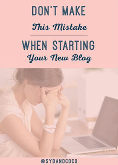 Don't Make this Mistake when Starting your Blog | It's best to have a plan for starting your blog and content creation. Great for beginner bloggers and folks new to social media! Click through to read the full blog post. << Syd and Coco