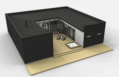 Cubo 160 – Teri Houses - Build Container Home Container Architecture, Container Buildings, Sustainable Architecture, Contemporary Architecture, Shipping Container Home Designs, Container Design, Shipping Containers, Modern House Plans, Small House Plans