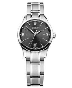 Victorinox Swiss Army Watch, Women's Alliance Stainless Steel Bracelet 30mm 241540