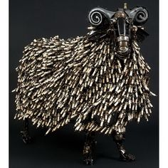 Baaahhh. The horns are made from horns. #sheep #art