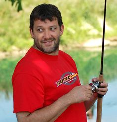 One of my favorite pictures of him!! Tony Stewart fishing