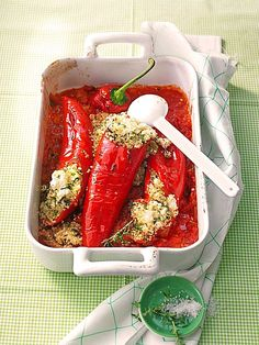 Stuffed peppers with couscous (recipe with picture) Bookmark and Share Vegetable Recipes, Vegetarian Recipes, Cooking Recipes, Healthy Recipes, Eat Smart, Relleno, I Love Food, Soul Food, Food Dishes