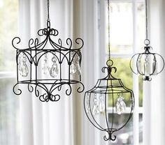 Hanging Crystal Wire Chandelier from Pottery Barn Kids Pottery Barn Kids, Pottery Barn Inspired, Wire Chandelier, Wire Pendant, Chandelier Ideas, Iron Chandeliers, How To Make Chandelier, Small Chandeliers, Simple Chandelier
