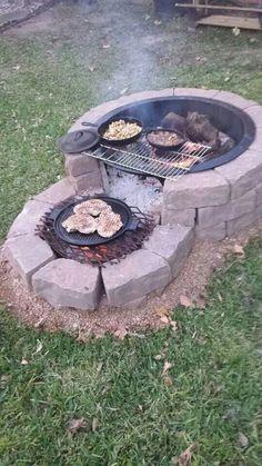 35 backyard landscaping ideas on a budget 21 - Diy garden decor, Backyard fire, Backyard . Cheap Fire Pit, Diy Fire Pit, Fire Pit Backyard, Backyard Fireplace, How To Build A Fire Pit, Fire Pit Grill, Fire Pit Area, Building A Fire Pit, Outdoor Fire Pits