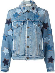 Shop Faith Connexion star patches denim jacket.