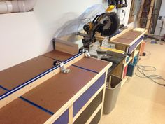 Miter Bench with Kreg stop and Window well dust hood                                                                                                                                                     More