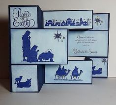 Nativity Tri-Fold Christmas Card withInstructions