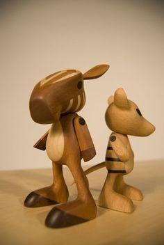 the amazing and unavailable wood toys of Josh Finkle #sloyd #slöjd