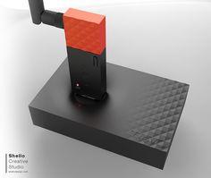 Details we like / smart USB / Patern 7 red / Hard edges / Soft transition