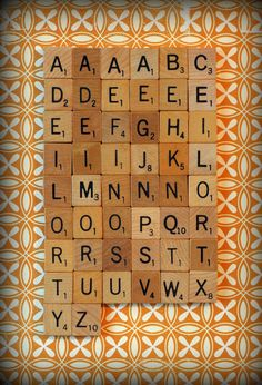 scrabble letters with magnets for the fridge - easy diy