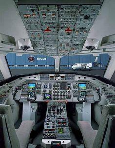 Saab 340B flight deck. As minimalistic as their Saab vehicles. Beautiful!