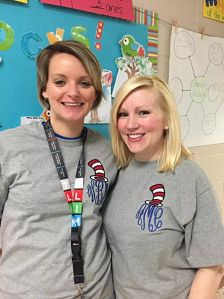 These special teachers inspired us for these precious Dr. Seuss shirts when they celebrated Read Across America Week!! The t shirt is 100% cotton unisex size t shirt.