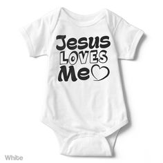 Jesus Loves Me - Infant Onesie | One-Piece Bodysuit | Baby Clothes | Also On Etsy