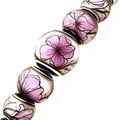 JC-Herrell-Cherry-Blossom-Illustration-Set-of-7-lampwork-glass-focal-bead