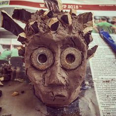 Edward scissor hands attempt with clay