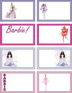 Barbie Gift Tags, Barbie, Gift Tags - Free Printable Ideas from Family Shoppingbag.com