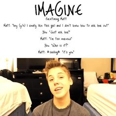 Imagine just imagine this will ever happen to me if it did I would to Magcon Family, Magcon Boys, Magcon Imagines, Matt Espinosa, Bae, Aaron Carpenter, Carter Reynolds, Trinidad James, Smile Everyday