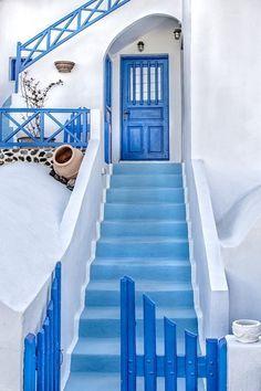 White and Blue in Santorini