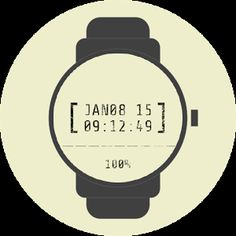 Date Stamp Watch Face #free #watchface #smartwatch #wearable #androidwear #lggwatchr #moto360 #design #apparel