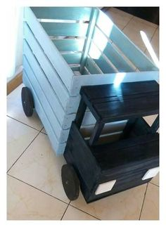 Diy Furniture Plans Wood Projects - New ideas Diy Furniture Plans Wood Projects, Wood Crate Furniture, Diy Furniture Table, Wood Crates, Cheap Furniture, Furniture Ideas, Diy Holz, Toy Rooms, Wood Toys