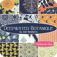 Fabric: Deepwater Botanique by Free Spirit