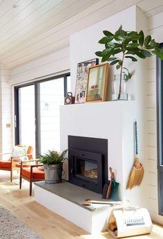A perfect, minimal, and modern fireplace.