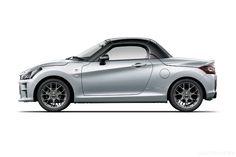 Daihatsu Copen GR Sport: pronto il lancio in Giappone Kei Car, Tokyo Motor Show, Sport Seats, Daihatsu, Sports Brands, Led Headlights, Aluminum Wheels, Black Accents, Paddle