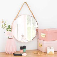 Miroir rond en métal cuivré D.30cm LAREDO - MDM