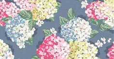 Hydrangea | We're well known for our large scale rose prints, but this season we took inspiration from different British blooms when creating some of our big floral designs. Hydrangeas have long been one of our favourite flowers so we're excited to see them come to life in print | Cath Kidston SS16
