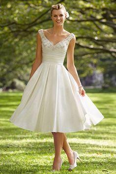 Hmmm..interesting idea. A knee length or mid shin length dress?