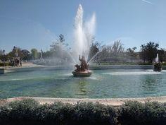 Hoy visitamos Aranjuez y sus jardines. Aquí una de sus fuentes más bonitas