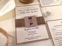 Hey, I found this really awesome Etsy listing at https://www.etsy.com/nz/listing/224999740/sample-burlap-wedding-invitation