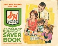 we used to get these at the grocery store and saved up and were able to go to the S&H store to redeem the books full of stamps for items