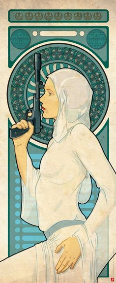 ARTIST: StarMose - Princess Leia Art Nouveau